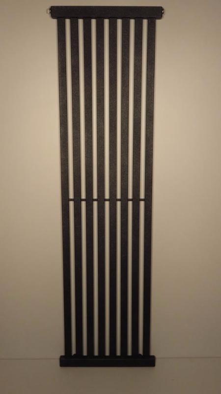 Grzejnik Dekoracyjny Pionowy 1500x330 Ciemny Grafit Strukturalny